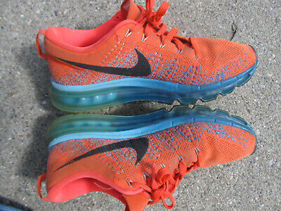 DS Mens Nike Flyknit Air Max Shoes HYPER Crimson Electric Green 620469 800 Sz 13