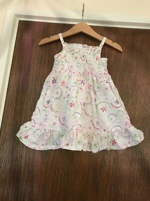 Marks And Spencer's Baby Girl Summer Dress 9/12 Months Excellent Condition