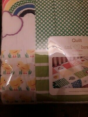 Mothercare Litte Bird Jools Oliver Cot or Cotbed Quilt nursery bedding