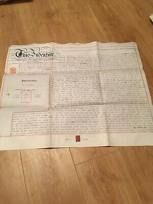 Vellum Indenture 1898 Lease Of Plot Of Land On Manchester Road Warrington