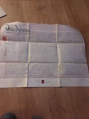 Vellum Indenture 1894 Underlease Of Plot Of Land On Manchester Road Warrington