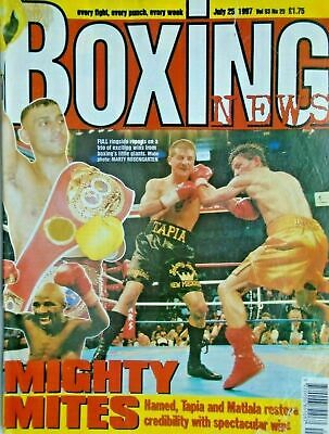 BOXING NEWS - 25 july  1997 - hamed, tapia, matlala  ETC  free p&p to uk