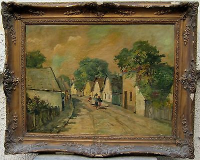 High quality Europian Impressionist oil painting circa 1890 signed illegiably