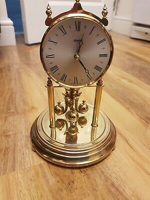 Anniversary Clock by Kieninger & Obergfell. Germany. working no key plastic dome
