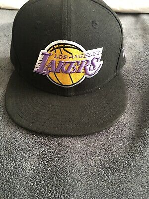 best loved 4370e 3e067 LOS ANGELES LAKERS - NBA NEW ERA 59FIFTY FITTED PURPLE HAT CAP - Size 7 1