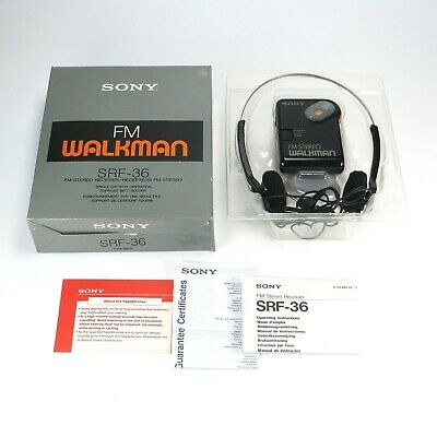 Sony Walkman SRF-36 FM AM Portable Stereo Radio - New In Box - Tested