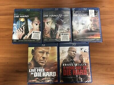 Die Hard Complete 5-Movie Blu-ray Lot Collection Live Free Good Day Vengeance