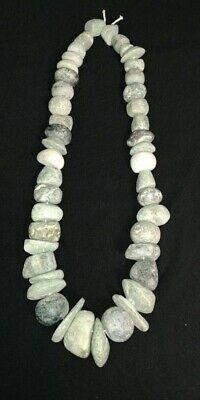 Pre-Columbian Mayan Stone necklace from Mexico. 650 ad.
