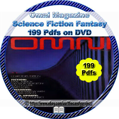 199 PDFs Omni Magazines science fiction parapsychology fantasy Defunct DVD