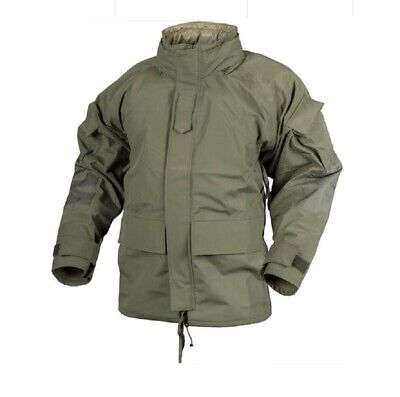 US Cold Wet Weather Nässeschutz Parka A mit  Fleece Jacke oliv MILTACS FG Medium Bekleidung Angelsport