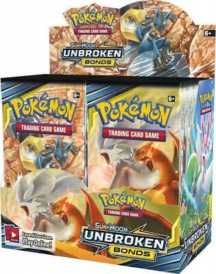 Pokemon Sun & Moon Unbroken Bonds 3 packs SHIPPING NOW