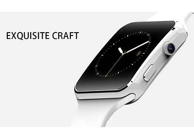 SMARTWATCH X6 OROLOGIO iPhone  ANDROID IOS CON SIM BLUETOOTH SMART WATCH BIANCO