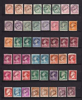 FRANCE COLLECTION de TIMBRES PREOBLTERES  2 photos