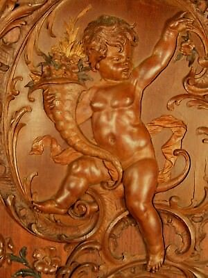 German Heinrich Maybach Workshop carved mixed wood relief plaque ca. 19th c.