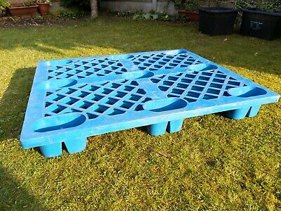 20 Blue plastic pallets used £5.00 each