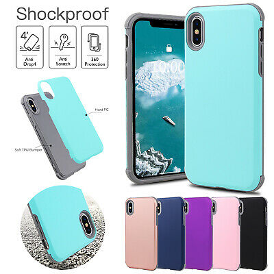 For iPhone 6s 7 8 Plus Case Heavy Duty Hybrid Silicone Bumper Shockproof Cover