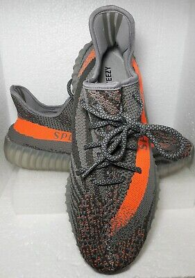 official photos edaa0 2e476 ADIDAS YEEZY BOOST SPLY 350 Beluga Steel Gray Solar Red Orange Size 10 Like  New