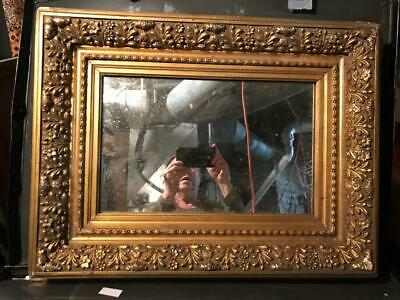 Antique Exquisite Gold Wood Ornate Picture or Mirror Frame, 19-20th C