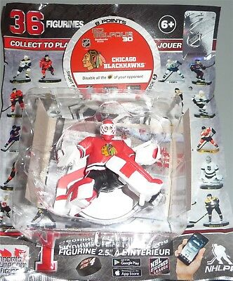 """ED BELFOUR Chicago Blackhawks SILVER 2.5"""" Series 4 NHL Imports Dragon Toy LOOSE"""