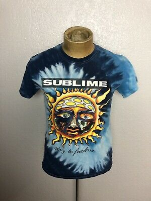 e2258322f SUBLIME 40OZ TO Freedom Tie Dye T-Shirt BLUE Large - $13.00 | PicClick