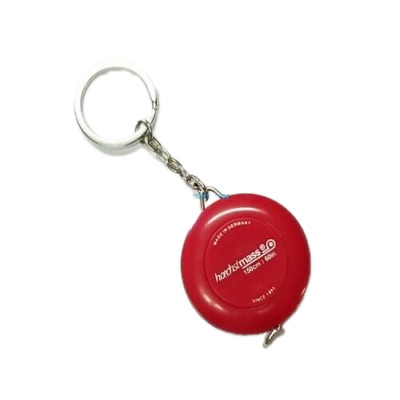 Retractable Key Chain Ring Red Tape Measure 60 Inch & 150 Cm Made in Germany