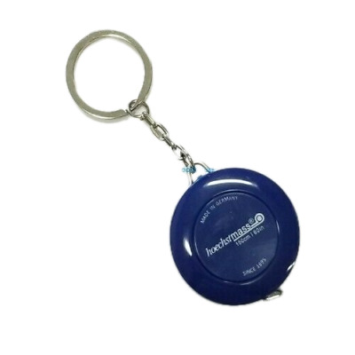 Retractable Key Chain Ring Blue Tape Measure 60 Inch & 150 Cm Made in Germany
