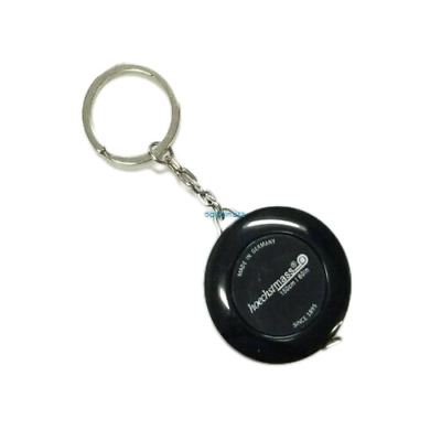 Retractable Key Chain Ring Black Tape Measure 60 Inch & 150 Cm Made in Germany