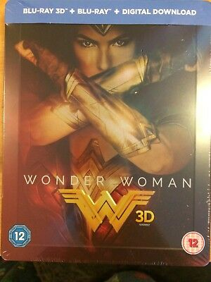 Wonder Woman 3D - HMV UK Exclusive Blu-ray SteelBook. New & sealed