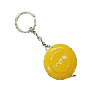 Retractable Key Chain Ring Yellow Tape Measure 60 Inch & 150 Cm Made in Germany