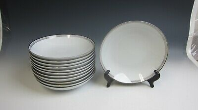 Lot of 12 Noritake China SILVER KEY Coupe Soup Bowls EXCELLENT