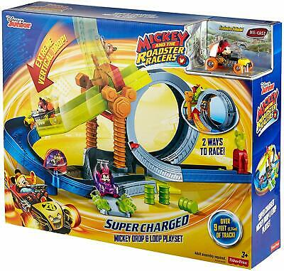 Disney Mickey the Roadster Racers Super Charged Mickey Drop Loop Playset