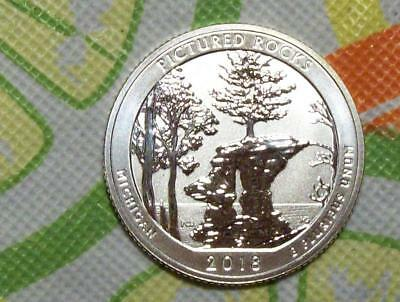 2018-S Silver Reverse Proof Pictured Rocks ATB Quarter