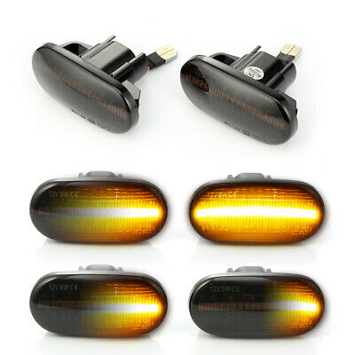 Dynamic LED SIDE MARKER LIGHTS SMOKE For HONDA CIVIC 1992-05 S2000 Acura Del Sol