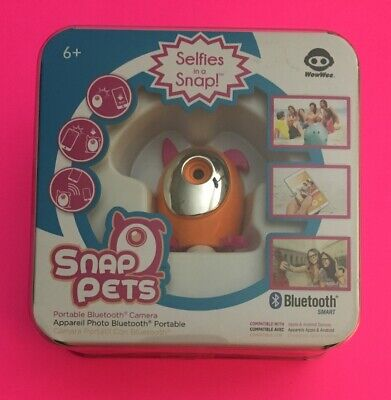 ❤️VERY RARE -Snap Pets REMOTE Camera Portable Bluetooth Selfies HIDDEN SPY NEW❤️