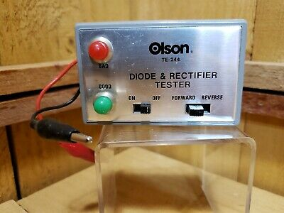 Vintage Olson Diode & Rectifier Tester TE-244 Untested