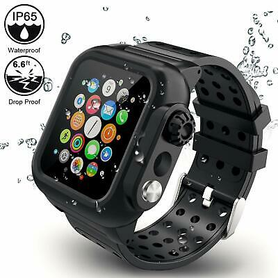 For Apple Watch 5/4 Series 44mm Wateproof Case Full Rugged Protective With Bands