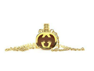 0b1c9e961 VINTAGE GUCCI PENDANT Necklace With Original Box Gold Tone And Blue ...