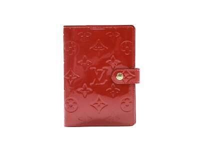 Authentic Louis Vuitton Vernis Red Agenda PM notebook