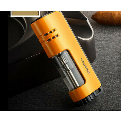 COHIBA Yellow Single Torch Jet Flame Metal Cigar Cigarette Windproof Lighter