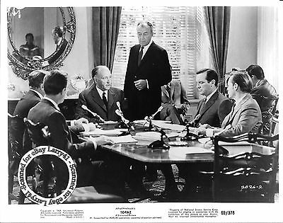 Lot of 2, Alfred Hitchcock John Forsythe MINT stills TOPAZ (1969) studio vintage