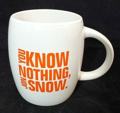 GOT Game Of Thrones YOU KNOW NOTHING JON SNOW. White Coffee Mug Tea Cup Ygritte