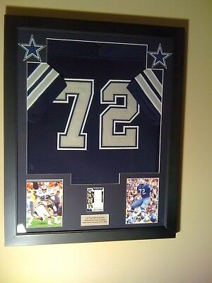 Ed Too Tall  Framed Jersey Game Used Patch Card 1/1 Dallas Cowboys