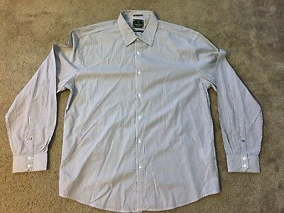 Marc Ecko No. 72 Cut & Sew Times Square New York Button Down L/S Shirt, Size 2XL