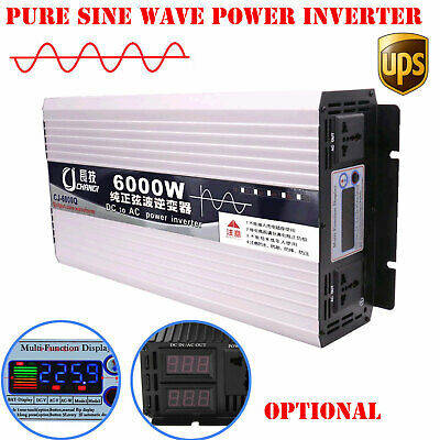 Intelligent Pure Sine Wave Power Inverter 600-6000W DC12V 24V 48V 60V to AC 110V