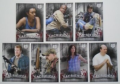 Topps The Walking Dead Hunters & The Hunted Sacrifices 7 Card Insert Set Target