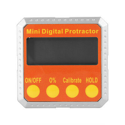 Digital Inclinometer Protractor Electronic Angle Gauge Meter 360° Magnetic Base
