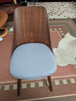 Fabulous Baxton Studio Flora Mid Century Modern Light Grey Fabric And Gmtry Best Dining Table And Chair Ideas Images Gmtryco