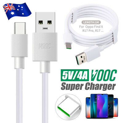 Genuine OPPO VOOC Original Fast Charger Cable 5V/4A Charging Cord R11R15 R17