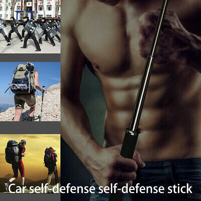 21-26''Retractable Outdoor Pocket Self Defense Tools 3 Section Telescopic Stick