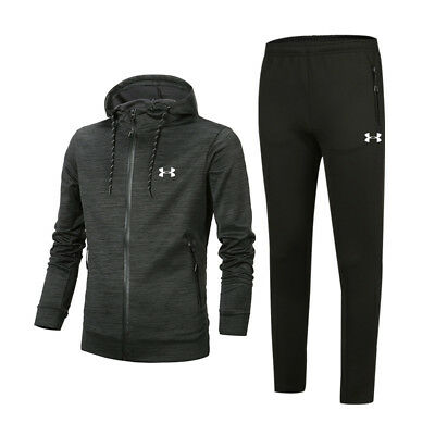 Under Armour Mens Sports Set Tracksuits Training Gym Running Sweatshirts+Pants